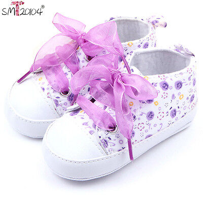 Baby Girl Shoes Floral Infant Soft Cotton Sole Baby First Walker Toddler Shoes