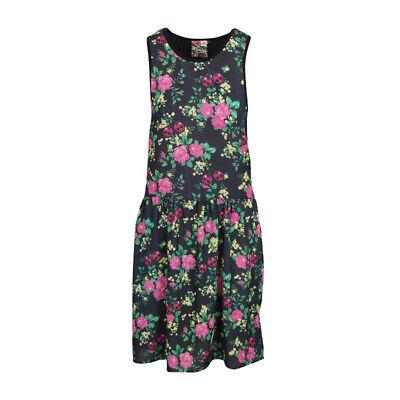 l Cherry Floral Midi Grunge Dress (Womens Skull Kleid)