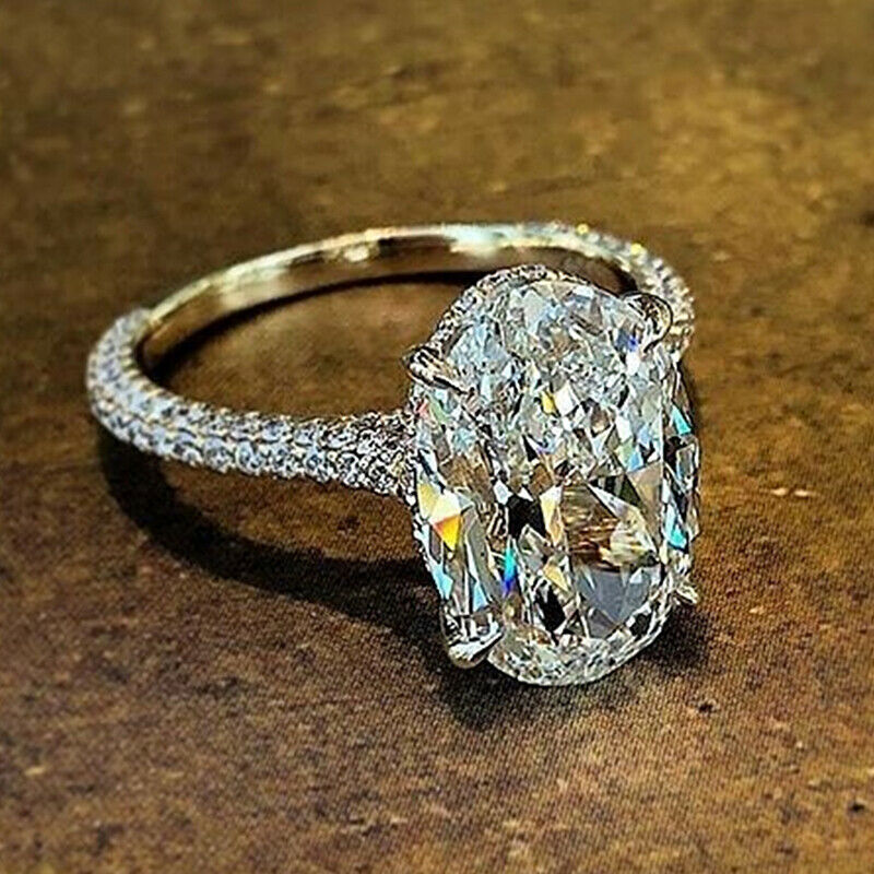 Sunshine 925 Silver Rings for Women Cubic Zirconia Rings Jewelry Size 6-10