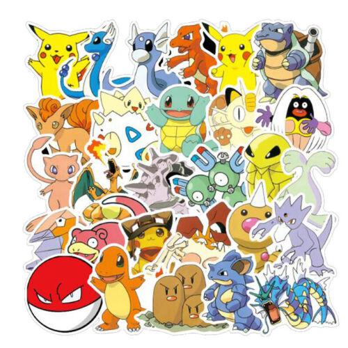 Home Decoration - 100 Pcs Pokemon Stickers Animals Monsters Skateboard Laptop Funny Decor Gift