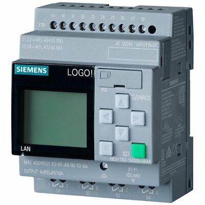 6ed1052-1md08-0ba0 Siemens Logo 1224rcplc 1224v Dcrelay 8 Di 4ai4 Do