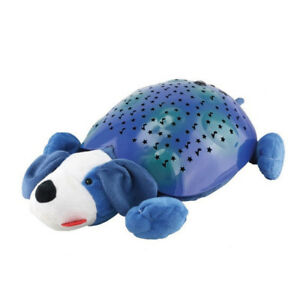 Dreamy Starz Plush Dog Kid's Night Light Auto Shut Off Blue NEW