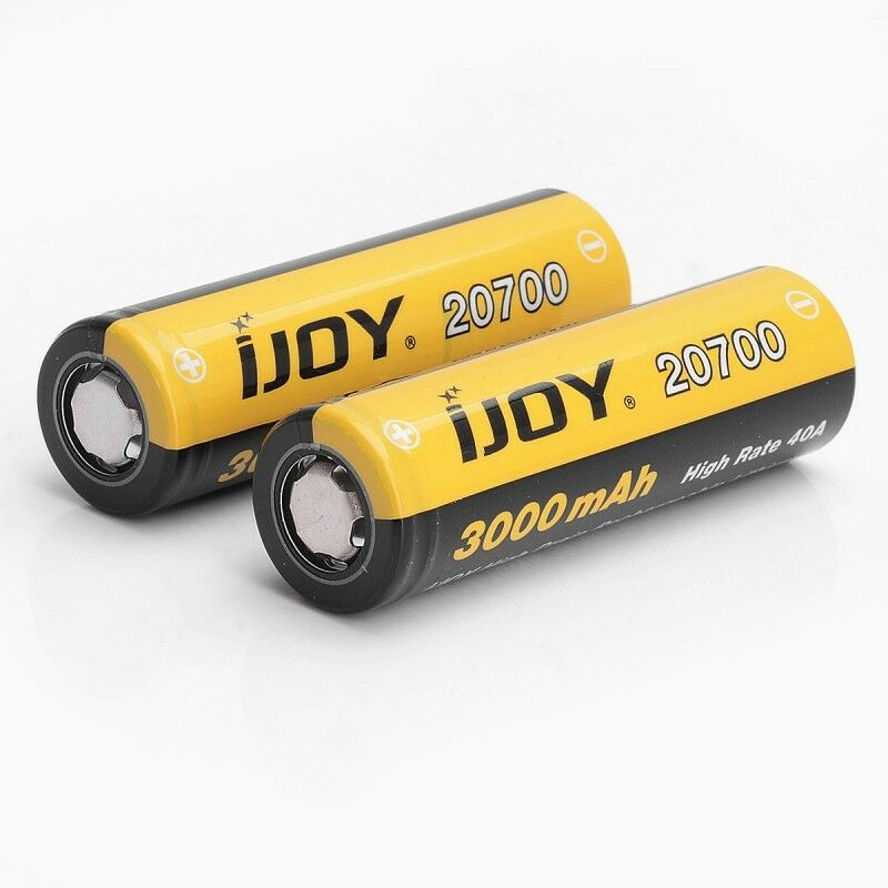 GENUINE iJoy 20700 3000mAh 30A Battery **UK SELLER**FREE CASE WITH 2 BATTERIES**