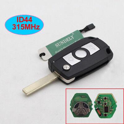 Flip Remote Key Fob 315/434MHz With Chip ID44 for BMW E81 E46 E39 E63 E38 HU92