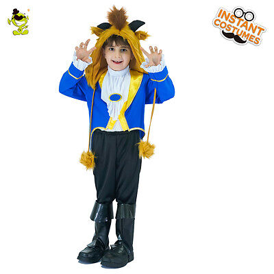 Wild Beast Costume Boy the Beautty and Beastt Cosplay Fancy Outfit for Kid - Party Boy Costume