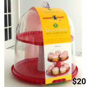 Brand New Nordic Ware Dessert Stand With Dome Lid  and many more