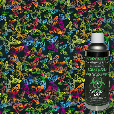 HYDROGRAPHIC FILM WATER TRANSFER HYDRO DIP 6OZ. ACTIVATOR BUTTERFLIES KIT