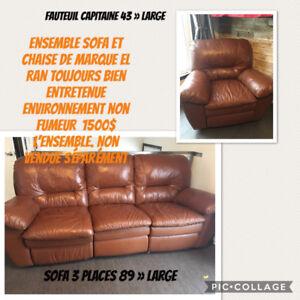 Ensemble sofa fauteuil