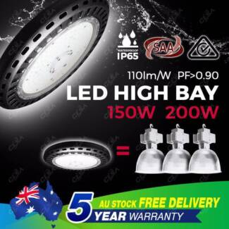 UFO LED High Bay Lights 150W/200W Warehouse Industrial Light North Melbourne Melbourne City Preview