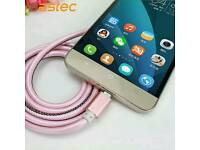 i phone 5 6 7 pink leather charger super strong