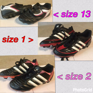 Kids Outsoor Soccer Shoes, Size 13, 1 and 2
