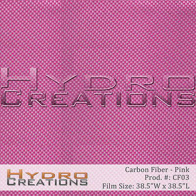 Hydrographic Film Hydro Dipping Water Transfer Pink Carbon Fiber 38.5 X 38.5