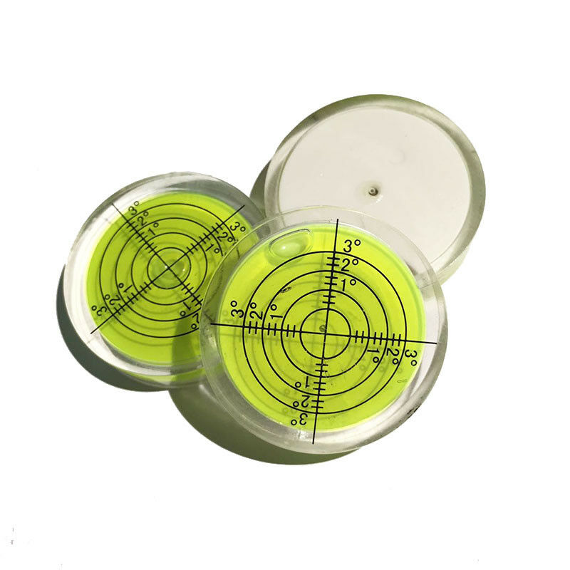 40mm x 10mm Green Leveller Disc Bubble Spirit Level Round Circular Bullseye UK