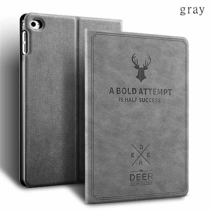 Cover Für Apple ipad Air 1/2  9,7 2017/2018 Hülle Tasche Schutzhülle in Grau