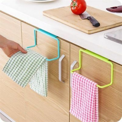 Rack Hanging Towel Kitchen Holder Bathroom Cabinet Organizer Door Bar Hanger Us