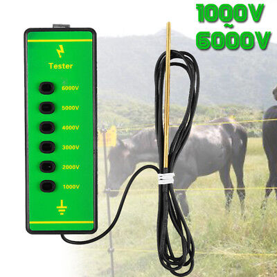 Farm Electric Fence Voltage Tester 1000v-6000v Voltage Power Current Testing