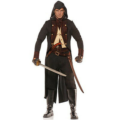 Eliminator Assassin Kolonial Underwraps Erwachsene Herren Halloween - Kolonial Herren Kostüme