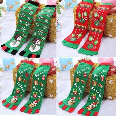 Winter Women Girl Warm Soft Christmas Knee High Cotton Five