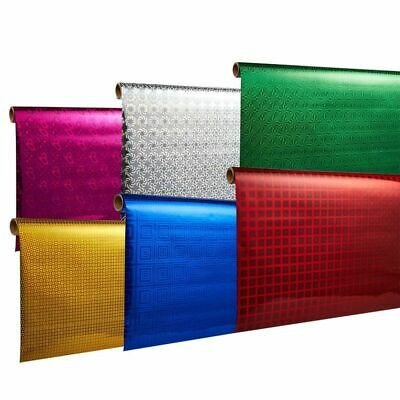 6-Pack 2.5x10 Ft All Occasion Shiny Gift Wrapping Paper for