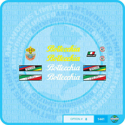 Set 7 Bottecchia Bicycle Decals Transfers Stickers