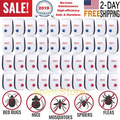1-20x UPGRADED ULTRASONIC PEST REPELLER CONTROL RAT COCKROACH ANT FLY FLEA PESTS