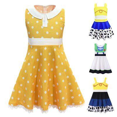 Toy Story 4 Costume Girls Jessie Buzz Lightyear Gabby Dress Kids Cosplay