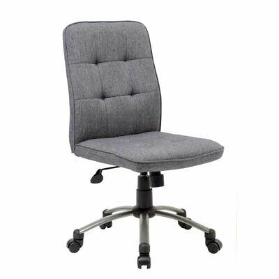 Boss Pretty Parsons Modern Armless Office Chair In Slate Gray