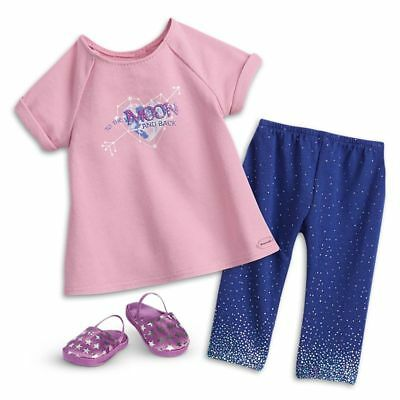 """NEW AMERICAN GIRL OF THE YEAR LUCIANA VEGA PAJAMAS PJ clothes set for 18"""" doll"""