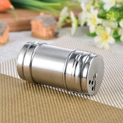 Stainless Steel Salt Pepper Shaker Portable Home Travel Seasoning Shaker Kitchen Stainless Steel Shaker