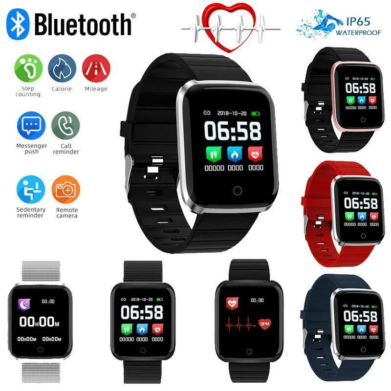 Smartwatch Armband Sportuhr Pulsuhr Herzfrequenzmesser Blutdruck Fitness Tracker