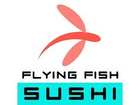 Flying Fish Sushi Looking For Scooter Delivery drivers