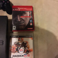 PlayStation 3 slim 160gb + 6 Games and 2 Wireless Controllers