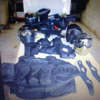 Equipement de Paintball - fusil - masque