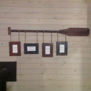 Canoe paddle frame