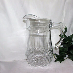 Large Cristal D'Arques Water Pitcher Glasses Goblets Crystal