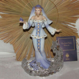 FROST FAIRY PRINCESS FRANKLIN MINT FINE PORCELAIN FIGURINE