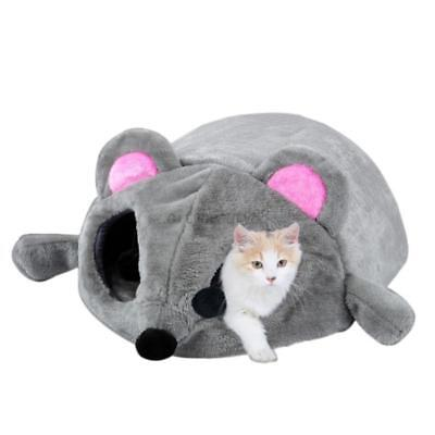 USA Pets Dogs Cat Mouse Shape House Bed Hamster Warm Indoor Outdoor Cave Tent