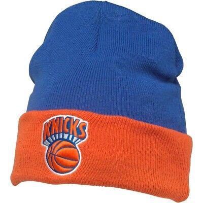 Mitchell & Ness Mens New York Knicks 2 Tone Cuff Knit Beanie Royal/Orange