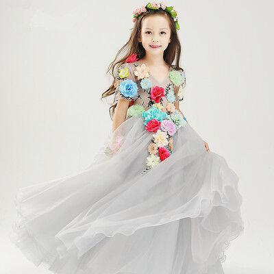 Kinder tag Blumen-mädchen Abend-kleid Geschenk Weihnachten Disney Halloween elf ()