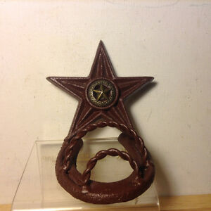 Old Western Texas Star and Horseshoe TP Toilet Holder