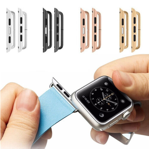 1Pair Stainless Steel Watchband Link Strap Connector Kits for Apple Watch iWatch