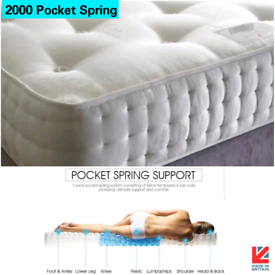 NEW DOUBLE KING S.KING. 2000 POCKET SPRING MATTRESS ON SALE HALF PRICE