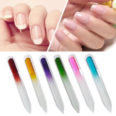 (2/4PCS Colorful  Crystal Glass Nail Files Nail Polish Tool Art Manicure Pedicure)