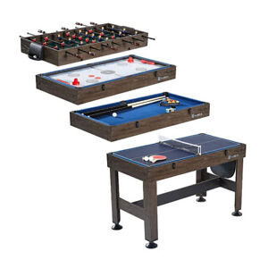 "MD Sports 54"" 4 in 1 Combo Game Table -Foosball, Slide Hockey, T"
