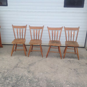 Set of 4 antique chairs