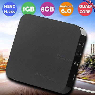 Android 6.0 Marshmallow KODI SMART 8GB Quad Core OTT WIFI TV Box Media Player UK