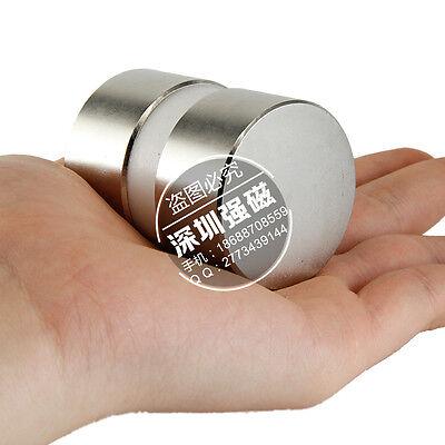 2pcs Super Powerful Dia 40mm X 20mm Neodymium 40x20 Disc Ndfeb N52 Magnets