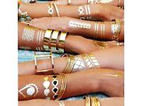 Henna Tattoo Flash Tattoo Silver Gold Waterproof