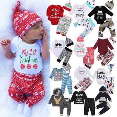 Christmas Cute Toddler Baby Boys Girls Romper T-shirt Long Pants Outfits Clothes](Cute Toddler Christmas Outfits)