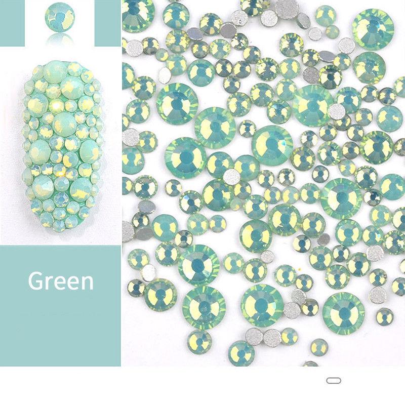 1 Bag Green Opal Rhinestones